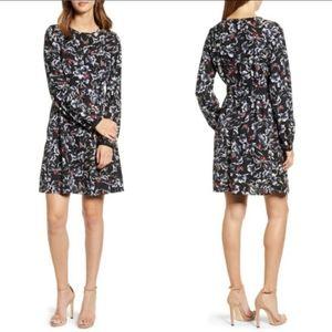 Vero Moda High Neck Pleated Floral Midi Dress
